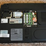 Toshiba Satellite U305 Ram Cover Removed